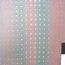 COTTON FABRIC YARD NEW MARIE KELZER SAND TURQUOISE AND PINK ROWS NICE FILLER