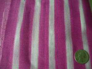COTTON FABRIC ONE YARD NEW ON BOLT MARIE KELZER OCEAN LINES FUCHSIA BLENDER FILL