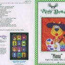 AMY BRADLEY Kitty City MONA  the artistic cat Quilt Block Pattern only free ship