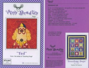 AMY BRADLEY DAZZLING DOGS QUILT TED. FABRIC FUSIBLE EMBELLISHMENTS MORE