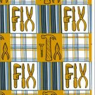 FREE SPIRIT BE A MAN FABRIC GOLD TOOLS BLUE PLAID COTTON FABRIC NEW ON BOLT