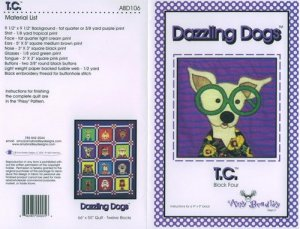 AMY BRADLEY DAZZLING DOGS QUILT KIT T.C. FABRIC FUSIBLE EMBELLISHMENTS MORE