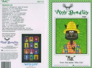 AMY BRADLEY Kitty City MAC Quilt Block Pattern only free ship