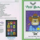 AMY BRADLEY Kitty City SLIM Quilt Block kit fabric FUSIBLE EMBELLISHMENTS