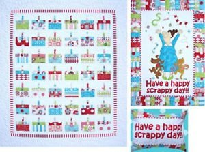 Amy Bradley Designs Applique or Pieced Have a Happy Scrappy Day Quilt Pattern