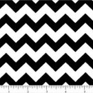 CHEVRON Cotton Fabric One half 1/2 inch Black white Yard Quilt New on Bolt
