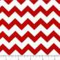 CHEVRON Cotton Fabric One half 1/2 inch red white Yard Quilt New on Bolt