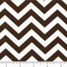 CHEVRON Cotton Fabric One half 1/2 inch Brown white Yard Quilt New on Bolt