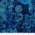 "QUILT BACKING Teal Tonal Floral 108"" WIDE COTTON NEW ON BOLT BY THE YARD"