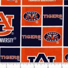 "Licensed Collegiate Print Cotton Fabric University of Auburn Patch 44"" Wide"
