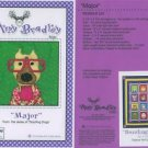 AMY BRADLEY DAZZLING DOGS MAJOR Quilt block pattern only applique pattern