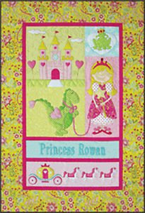 Amy Bradley Designs Applique Pattern Princess Quilt or Wallhanging Pattern