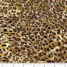Yard Cotton Quilt shop Fabric FAUX print FUR LEOPARD SKIN FREE SHIPPING