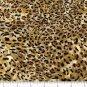 Yard Cotton Quilt shop Fabric FAUX print FUR LEOPARD SKIN FREE SHIPPING