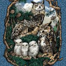 Wall Hanging Panel Animal Who Gives a Hoot Owls COTTON FABRIC 44'' x 35''