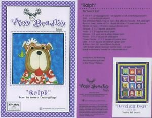 AMY BRADLEY DAZZLING DOGS RALPH QUILT KIT FABRIC FUSIBLE EMBELLISHMENTS MORE