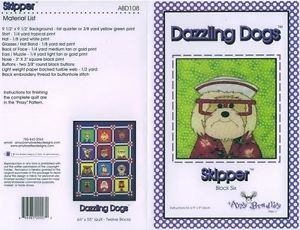 AMY BRADLEY DAZZLING DOGS SKIPPER QUILT KIT FABRIC FUSIBLE EMBELLISHMENTS MORE