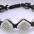 Hematite and sparkle bead bracelet, new item