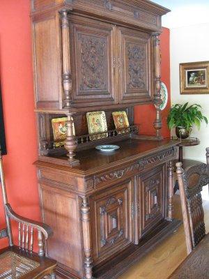 Antique LOUIS 14th Walnut Hutch 1870-1900