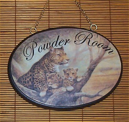 Hand crafted Wood Powder Room Signs Home Decor