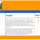 Simple Orange and Blue Web Template