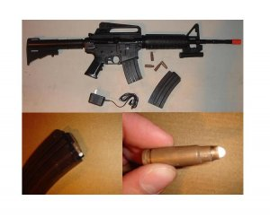 Airsoft M16 CARTRIDGE-EJECTING Airsoft Gun!!