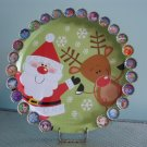 Christmas Countdown Advent Calendar Santa Claus Reindeer Magnetic Board 25 Bottle Cap Magnets