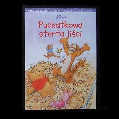 WINNIE THE POOH 'POOHS LEAF PIE' POLISH LANGUAGE CHILDRENS STORY BOOK