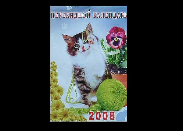 THE KITTEN  CAT RUSSIAN LANGUAGE CALENDAR 2008