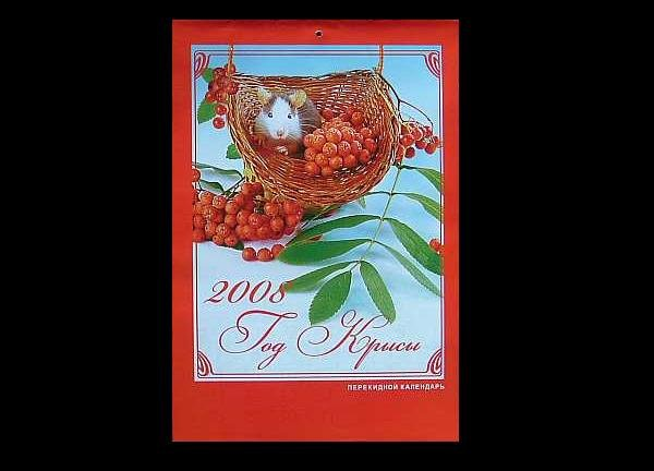 YEAR OF THE RAT  RUSSIAN ENGLISH UKRAINIAN CALENDAR 2008