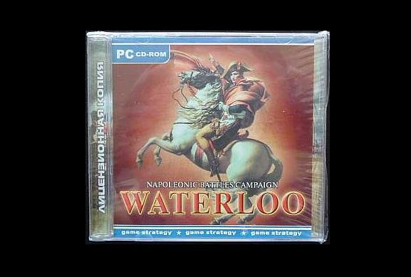 NAPOLEON WELINGTON BATTLE OF WATERLOO COMPUTER GAME (DUAL LANGUAGE ENGLISH OR RUSSIAN)