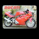 DUCATI SUPERSPORT 750  RUSSIAN LANGUAGE CALENDAR BOOKMARK 2009