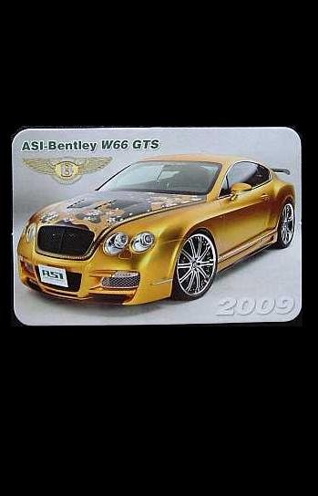 ASI BENTLEY W66 GTS  RUSSIAN LANGUAGE CALENDAR BOOKMARK 2009