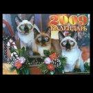 THE FELINE CAT RUSSIAN UKRAINIAN LANGUAGE CALENDAR 2009