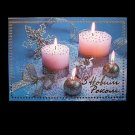 FOUR SILVER CANDLES UKRAINIAN LANGUAGE NEW YEAR CHRISTMAS CARD