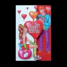 YOUNG LOVE RUSSIAN LANGUAGE VALENTINES CARD
