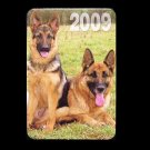 GERMAN SHEPARD ALSATIAN DOG RUSSIAN UKRAINIAN LANGUAGE CALENDAR BOOKMARK 2009