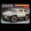 HUMMER HX  RUSSIAN UKRAINIAN LANGUAGE CALENDAR BOOKMARK 2009