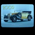 CLASSIC CAR  RUSSIAN UKRAINIAN LANGUAGE CALENDAR CARD 2009