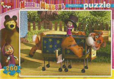 MASHA AND MEDVED MASHA THE MAGICIAN 260 PIECE JIGSAW PUZZLE