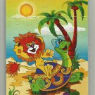 LION CUB AND TURTLE SONG TALES OF KOZLOV SOVIET ERA CARTOON CHILDRENS SOFT FOAM JIGSAW PUZZLE