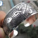 Tibetan Silver cuff bracelet with Koi Fish