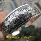 Tibetan silver cuff bracelet with Dragon