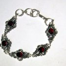 Ruby Red Quartz Gemstone Bracelet
