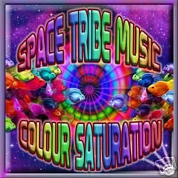 COLOUR SATURATION SPACE TRIBE MUSIC PSY-TRANCE CD