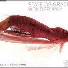 STATE OF GRACE WONDER WHY RARE GERMAN OOP TRANCE CD