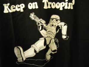 Storm Trooper Keep on Troopin' T-shirt M