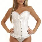 Small White Satin Bridal Corset