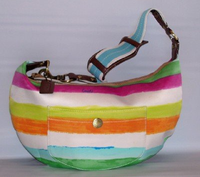 MANHATTAN WEEKEND WATERCOLOR STRIPE HOBO