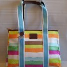 MANHATTAN WEEKEND WATERCOLOR STRIPE TOTE